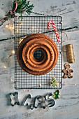 A Christmas Bundt cake