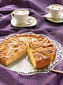 Glazed apple cake