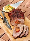 Spit-roast pork with potato salad from the Hunsrück