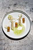 Variations of eel with kohlrabi
