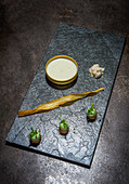 Goat's cheese vacherin with common salsify