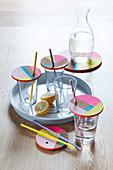 DIY-Deckel für Gläser aus Korkuntersetzer herstellen