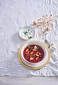 Festive borscht (borshch)