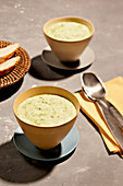 Sunny cream of herb soup