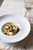 Traditional Sardinian pasta called lorighittas