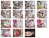 Christmas cake Red velvet preparing