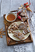 Traditional decorated Christmas gingerbreads
