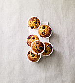 Blueberry and turmeric muffins