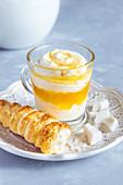 Mascarpone mango dessert.