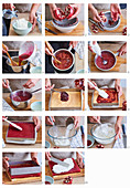 Baking cuts with pomegranate