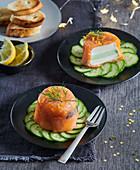 Salmon pates
