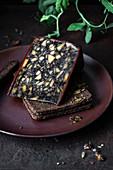 Irischer Porterkäse (Cheddar-Käse mit Porterbier aromatisiert)