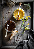 Flavored honey - cocoahoney and bee pollen honey