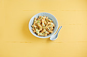 Ricotta and herb fusilli with pine nuts