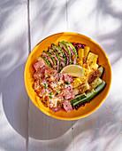 Poke bowl with tuna