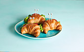 Croissant crabs filled with tuna and cream cheese