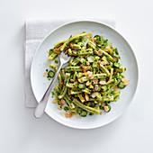 Casarecce mit Zucchini-Mandel-Pesto