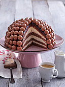 Cake with chocolate balls