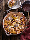 Sweet snails with chocolate