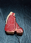 T-bone steak dry aged