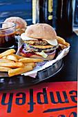 Vegetarian aubergine and mozzarella burgers