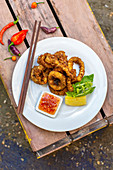 Fried calamari with sweet chilli sauce