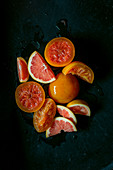 Candied grapefruit and fresh grapefruit