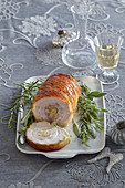 Pork flitch roll with stuffing