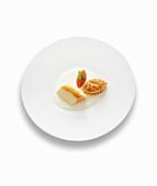 Salmon soufflé with tomato concassée