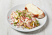 Swiss meat salad with radishes