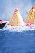 Christmas treees - candy cane cheesecake ice-cream cones