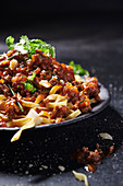 Tagliatelle with game bolognese