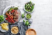 Roast beef with horseradish crust and maple-pepper roast vegetables