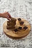 Granola bars and hemp bars (raw baking)