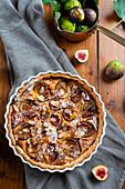 Italian style fig and frangipane tart