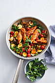 Spanish chicken and beans
