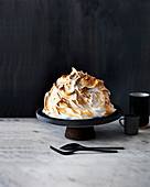 Butterscotch snowball bombe with fluffy frosting