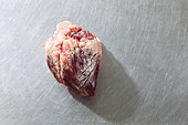 A raw beef heart