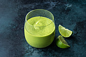 Kale and coconut smoothie with mango