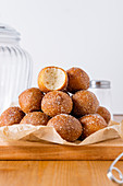 Cottage cheese vanilla mini donuts (fried cakes)
