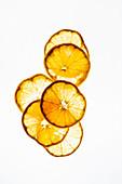 Transculent tangerine slices