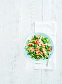Asiatischer Garnelen-Quinoa-Salat