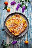 Apricot and mascarpone fritter