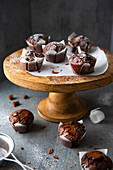 Brownies in muffin cases