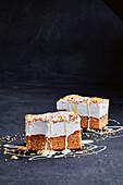 Fairy bread marshmallow slice