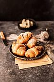 Breakfast butter croissants