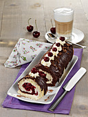 Black Forest Gateau Swiss roll