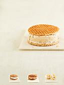 Eiscremesandwiches - Karamell und Kaffee, Rum und Rosinen, Choc und Haselnuss, Erdbeere und Shortbread
