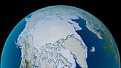 Arctic sea ice maximum, March 2020