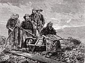 Coal sorters, 19th century illustration